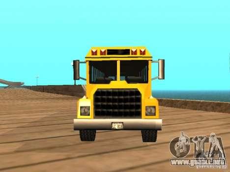 School bus para la visión correcta GTA San Andreas