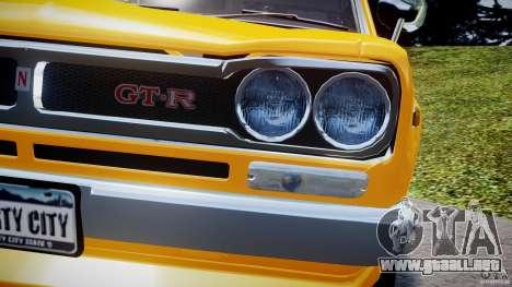 Nissan Skyline 2000 GT-R para GTA motor 4