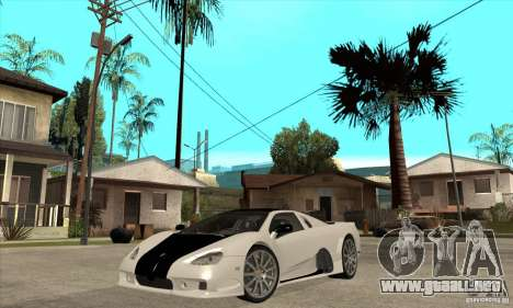 SSC Ultimate Aero FM3 version para GTA San Andreas