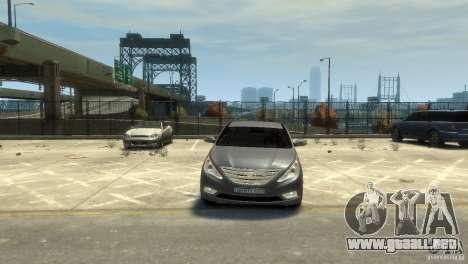 Hyundai Sonata para GTA 4 vista hacia atrás
