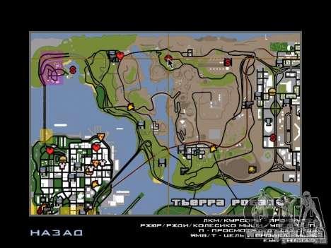 Casa de campo para GTA San Andreas sucesivamente de pantalla