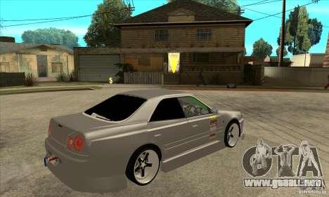 Nissan Skyline Er34 Street Drift para la visión correcta GTA San Andreas