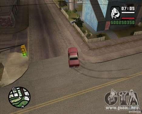 Cámara como en GTA Chinatown Wars para GTA San Andreas octavo de pantalla