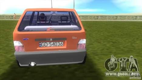 Fiat Uno para GTA Vice City vista lateral izquierdo