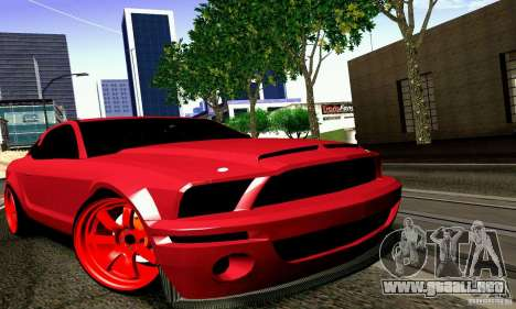 Shelby GT500 KR para GTA San Andreas vista posterior izquierda