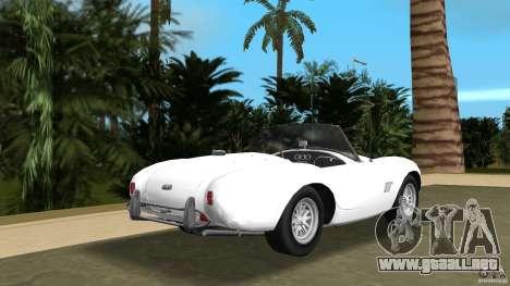 AC Cobra 289 para GTA Vice City vista lateral izquierdo