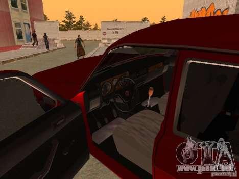 Volga GAZ 24-10 para GTA San Andreas vista hacia atrás