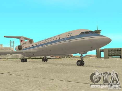 Aeroflot Yak-42 para GTA San Andreas left