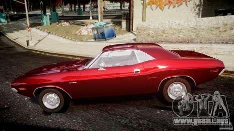 Dodge Challenger 1971 para GTA 4 left