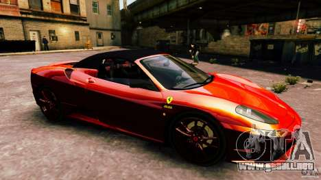 Ferrari 430 Spyder v1.5 para GTA 4 vista lateral