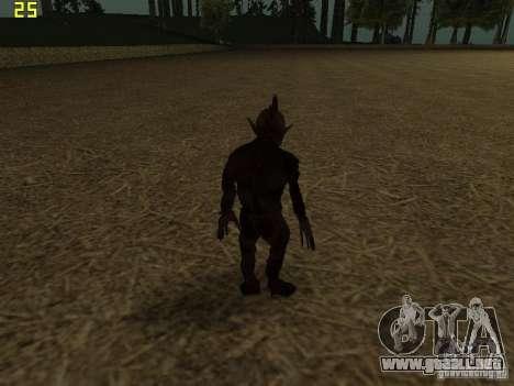 Chupacabra para GTA San Andreas quinta pantalla