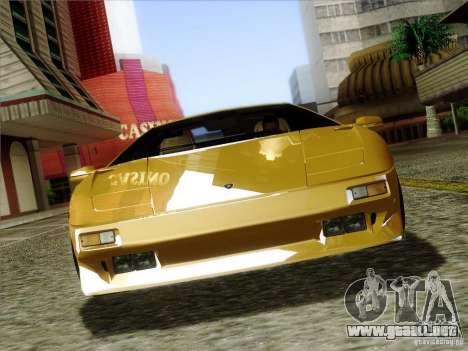 Lamborghini Diablo VT 1995 V3.0 para vista inferior GTA San Andreas