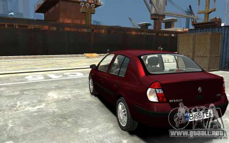 Renault Clio 1.4L para GTA 4 Vista posterior izquierda