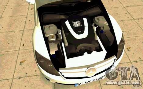 Mercedes Benz CL 500 para GTA San Andreas vista hacia atrás