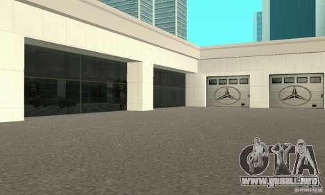Mercedes Showroom v.1.0 (Autocentre) para GTA San Andreas segunda pantalla