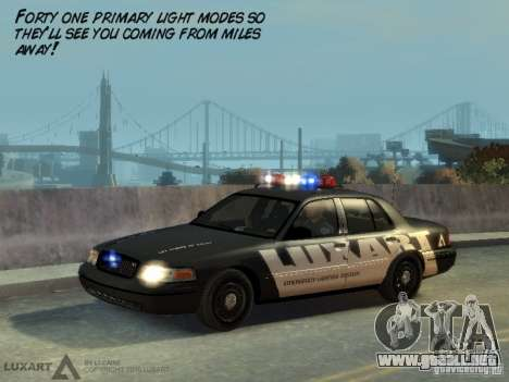 EMERGENCY LIGHTING SYSTEM V6 para GTA 4 adelante de pantalla