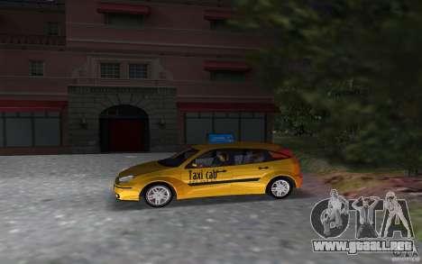 Ford Focus TAXI cab para GTA Vice City left