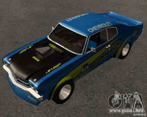 Chevrolet Chevelle SS 1970 para la visión correcta GTA San Andreas