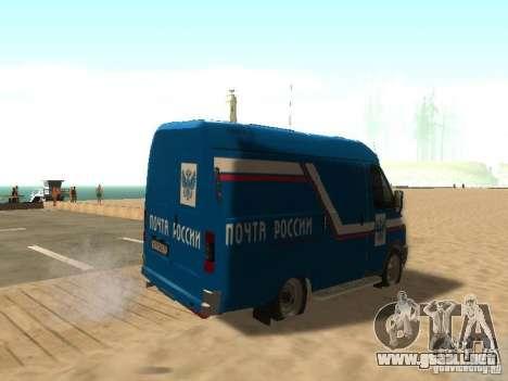Correo 2705 gacela de Rusia para GTA San Andreas vista posterior izquierda