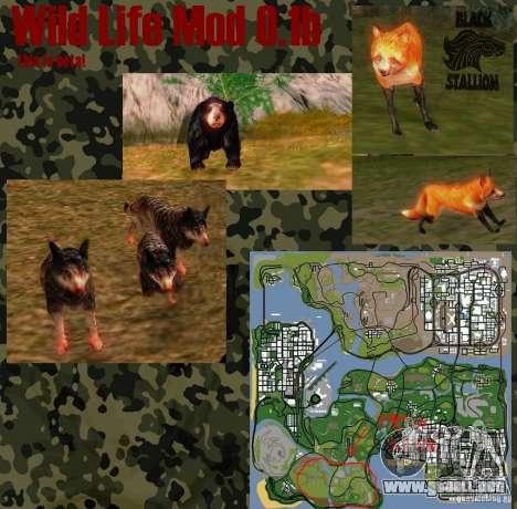 Vida silvestre Mod 0.1 (b) vida silvestre para GTA San Andreas