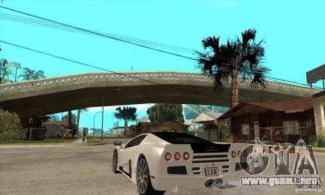 SSC Ultimate Aero FM3 version para GTA San Andreas vista posterior izquierda