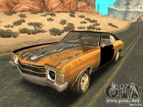 Chevrolet Chevelle Rustelle para visión interna GTA San Andreas