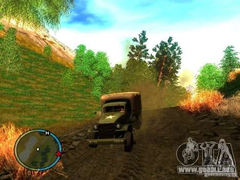 Millitary Truck from Mafia II para GTA San Andreas vista posterior izquierda