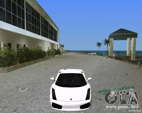 Lamborghini Gallardo para GTA Vice City vista lateral izquierdo