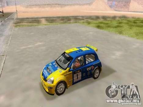 Renault Clio Super 1600 para la visión correcta GTA San Andreas