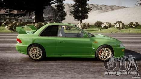 Subaru Impreza 22b 1998 (final) para GTA 4 vista interior