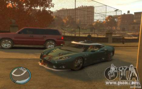 Spyker C8 Aileron para GTA 4 vista superior