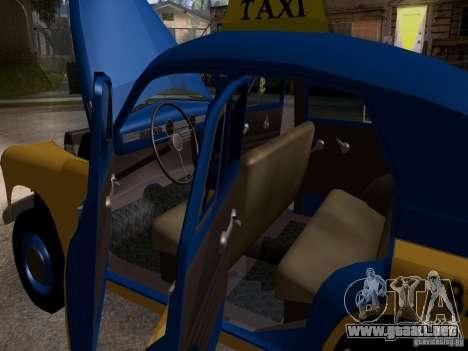 GAZ M20 Pobeda Taxi para vista lateral GTA San Andreas