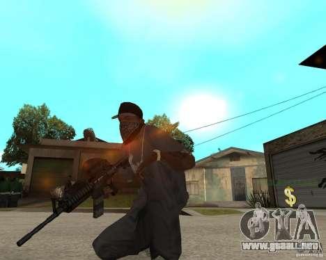 M16 de muy alta calidad para GTA San Andreas tercera pantalla