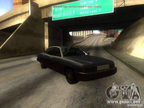 Merit Coupe para visión interna GTA San Andreas