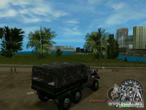 Ural 4320 Military para GTA Vice City vista posterior
