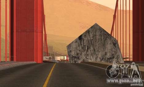 Puente destruido en San Fierro para GTA San Andreas tercera pantalla
