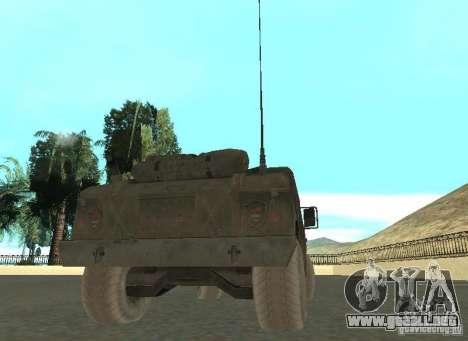 Hummer Cav 033 para GTA San Andreas vista posterior izquierda