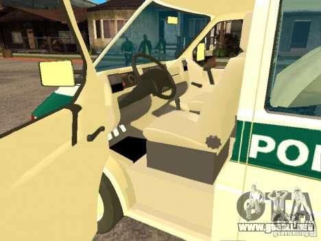 Volkswagen Transporter T4 Bosnian police para GTA San Andreas left