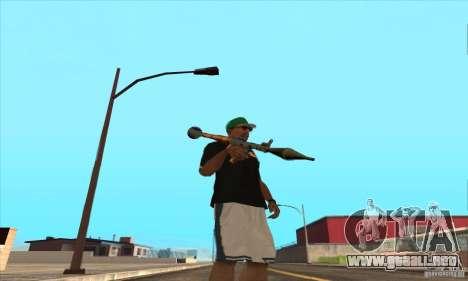 WEAPON BY SWORD para GTA San Andreas octavo de pantalla