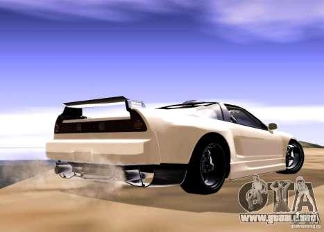 Acura NSX Tuned para GTA San Andreas vista posterior izquierda