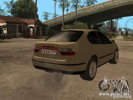 Seat Toledo 1.9 1999 para la visión correcta GTA San Andreas