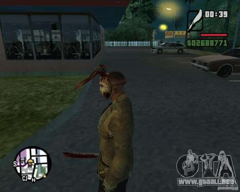 Jason Voorhees para GTA San Andreas tercera pantalla