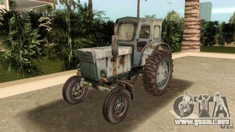 Tractor t-40 para GTA Vice City vista posterior