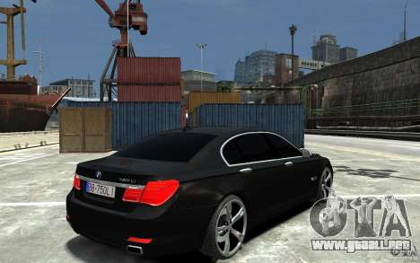 BMW 750 LI F01 v1.3 para GTA 4 visión correcta