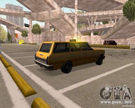Perennial Cab para GTA San Andreas vista posterior izquierda