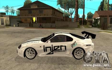 Toyota Supra MK-4 para GTA San Andreas left