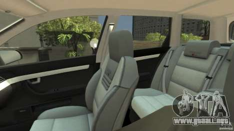 Audi A4 Avant beta para GTA 4 vista interior