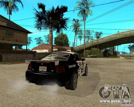 2003 Ford Mustang GT Street Drag para GTA San Andreas vista posterior izquierda