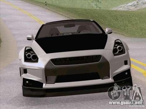 Nissan GTR Edited para la visión correcta GTA San Andreas