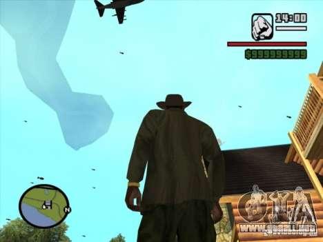 Apoyo aéreo para GTA San Andreas sucesivamente de pantalla